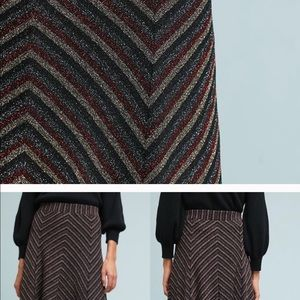 Anthropologie Skirts - NWT Anthropologie Maeve Chevron Shine Skirt size l